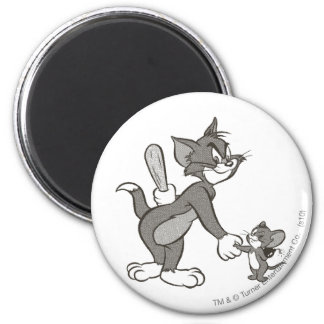 Apretón de manos engañoso de Tom y Jerry Imán Redondo 5 Cm