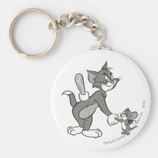 Apretón de manos engañoso de Tom y Jerry Llavero Personalizado