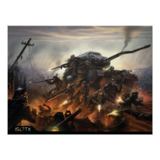 Apretón del hierro: Jefe militar Póster