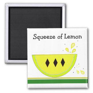 Apretón del limón iman de frigorífico