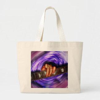 Apretón púrpura de la guitarra del vórtice bolsa