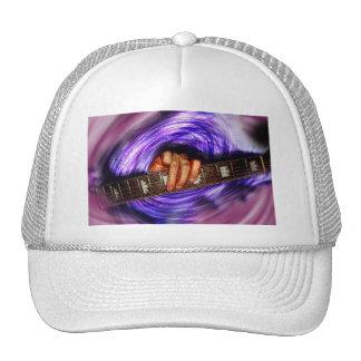Apretón púrpura de la guitarra del vórtice gorras
