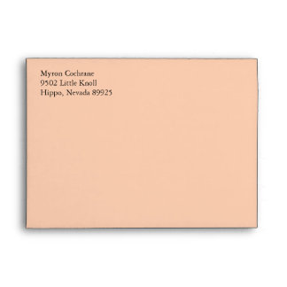 Apricot A7 5x7 Custom Pre-addressed Envelopes