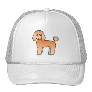 Apricot Adorable Standard Poodle Dog Trucker Hat