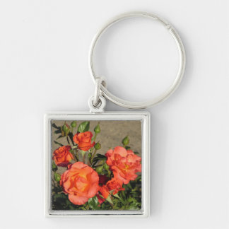 Apricot Cathedral Roses Keychain