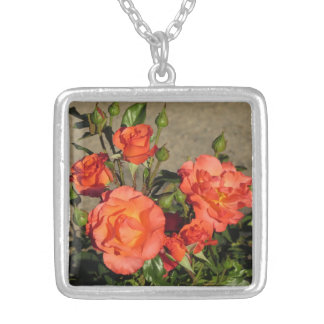 Apricot Cathedral Roses Necklace