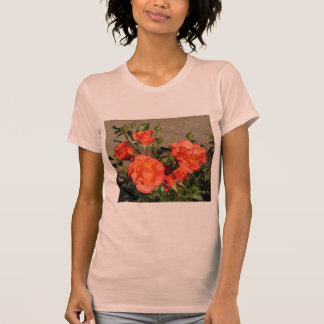 Apricot Cathedral Roses T-Shirt