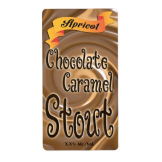 Apricot Chocolate Caramel Stout Shipping Label