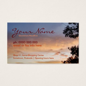 Apricot Clouds Skyscapes Business Card