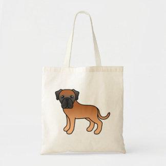 Apricot Coat English Mastiff Cartoon Dog Tote Bag