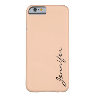 Apricot color background barely there iPhone 6 case