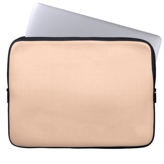 Apricot Color Background Computer Sleeve