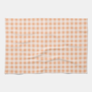 Apricot Color Gingham; Checkered Towel