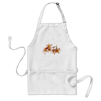 Apricot-Colored Lilies Adult Apron