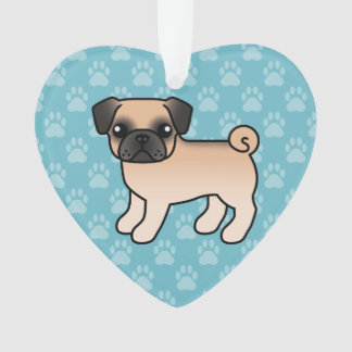 Apricot Fawn Pug With Morrison Mask Ornament