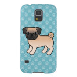 Apricot Fawn Pug With Willoughby Mask Cases For Galaxy S5