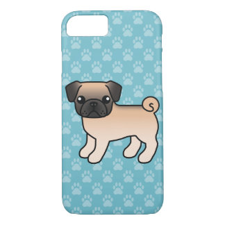 Apricot Fawn Pug With Willoughby Mask iPhone 8/7 Case