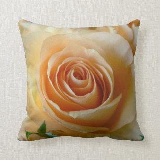 Apricot Garden Rose American MoJo Pillow