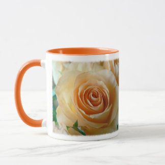 Apricot Garden Rose Coffee Tea Mug