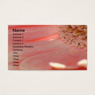 Apricot Gerbera Business Card