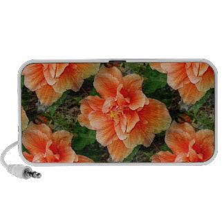 Apricot Hibiscus Flower Mini Speaker