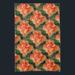 "Apricot Hibiscus Tropical Flower Kitchen Towel<br><div class=""desc"">Dreamy photo design of a beautiful showy orange Hibiscus flower. An apricot orange and green tropical flower theme creates a colorful and cheerful scene.</div>"