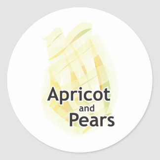 Apricot II Classic Round Sticker