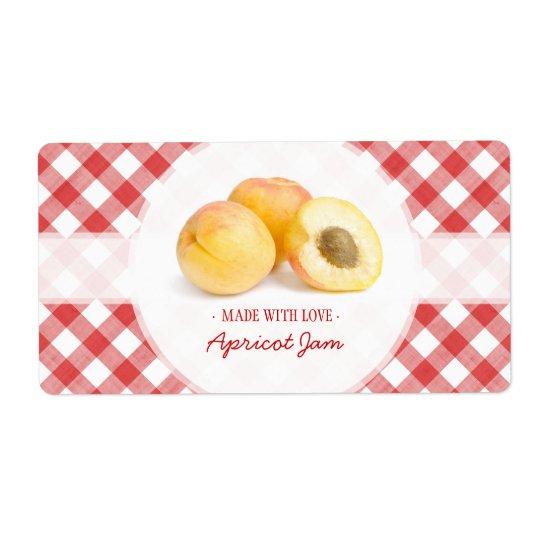 Apricot Jam label