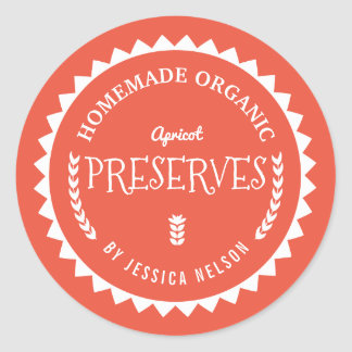 Apricot Jam Preserves Food Gift Kitchen Sticker