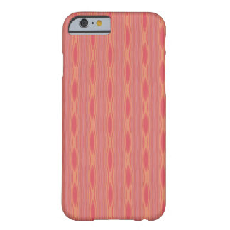 Apricot Mango Stripes with Ovals Barely There iPhone 6 Case