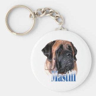 Apricot Mastiff Name Keychain