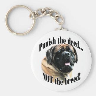 Apricot Mastiff Punish the Deed Keychain