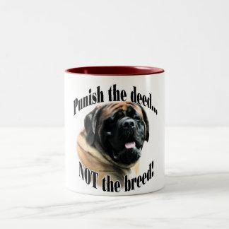Apricot Mastiff Punish the Deed Mug
