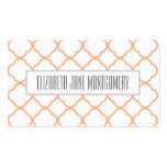 Apricot Ogee Modern Appointment Business Card