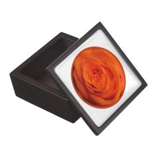 Apricot/Orange colored rose Premium Trinket Box