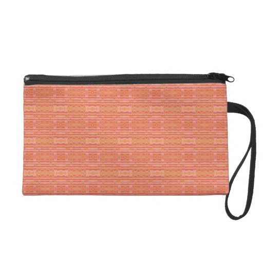 Apricot Peach Mango Patterned Wristlet and Cases