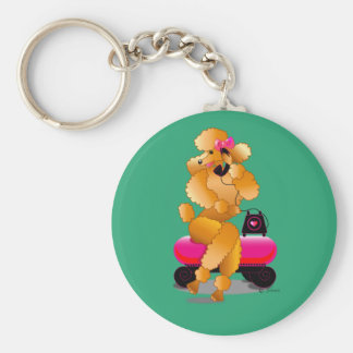 Apricot Poodle 50's Style Keychain