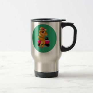Apricot Poodle 50's Style travel mug