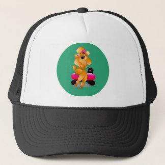 Apricot Poodle 50's Style Trucker Cap Hat