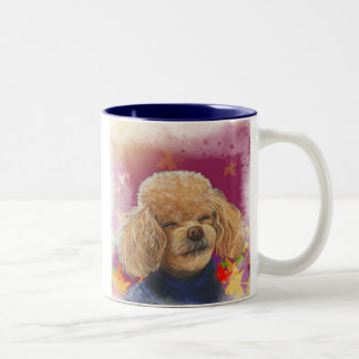 Apricot Poodle Fall Leaves Art Print Coffee Mug