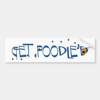 Apricot Poodle - Get Poodle'D Bumper Sticker