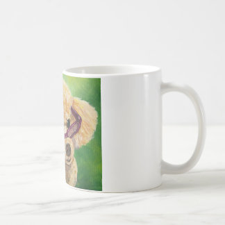 Apricot poodle in shades Art Original Coffee Mug