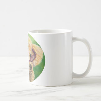 Apricot Poodle in Shades Portrait Original Coffee Mug