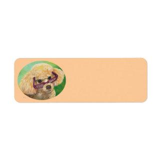 Apricot Poodle n Sunglasses Address Labels