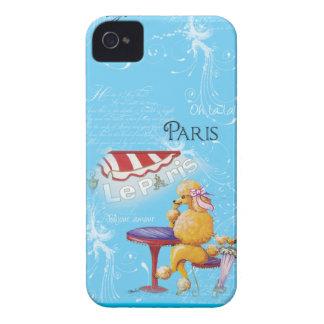 Apricot Poodle Paris Cafe iPhone 4 Case