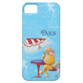 Apricot Poodle Paris Cafe iPhone SE/5/5s Case
