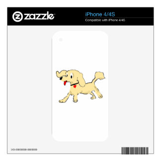 Apricot Poodle Puppy iPhone 4 Skin