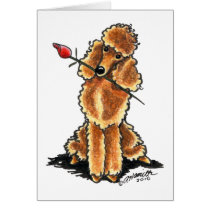 Apricot Poodle Sweetheart Valentines Card