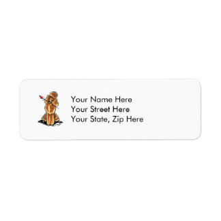 Apricot Poodle Sweetheart Valentines Label