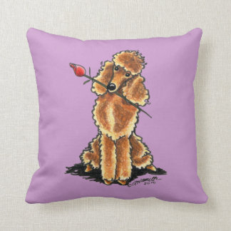 Apricot Poodle Sweetheart Valentines Throw Pillow